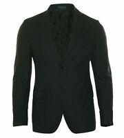 Ryan Seacrest Men's Modern Fit Windowpane Two Button Sport Coat Navy Blue Gray