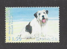 Dog Art Body Study Postage Stamp Wire Haired JACK RUSSELL TERRIER Grenada MNH
