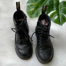 Dr. Martens Delaney Little Kids Black Leather Junior Doc Combat Boots 12