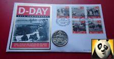 2004 Islas Vírgenes británicas $1 un dólar moneda de tanques de la Segunda Guerra Mundial Día D Cubierta PNC