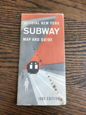 Vintage Official 1961 New York City Subway Map and Guide NYC Transit
