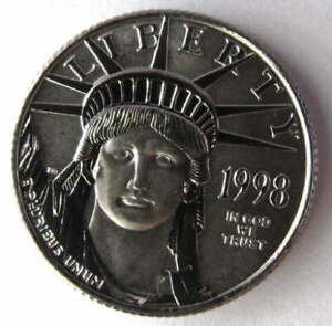 1998 AMERICAN EAGLE $25 PLATINUM LIBERTY UNITED STATES Of AMERICA .9995 1/4 OZ