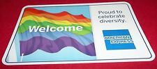 CREDIT CARD LOGO DECAL STICKER American Express Rainbow Diversity LGBT FREE SHIP