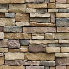 45x100cm Self Adhesive Wall paper PVC Waterproof Stone Brick Wall Stickers L