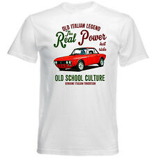 VINTAGE ITALIAN CAR LANCIA FULVIA REAL POWER - NEW COTTON T-SHIRT