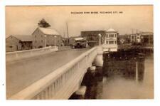 MD - POKOMOKE CITY MARYLAND Postcard BUS on POKOMOKE RIVER BRIDGE