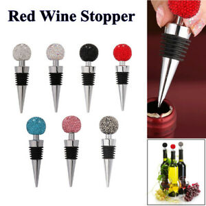 Wine Bottle Stoppers Crystal Diamond Rhinestone Ball Champagne Stopper Red Wine