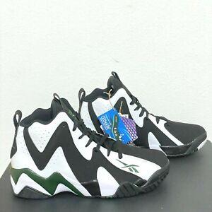 Shawn Kemp OG Retro Reebok Kamikaze II Men's Size 10 Black White FY7512 NEW