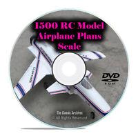 1,500 Scale RC Model Airplane Aircraft Plans, Remote Radio Control, PDF DVD I28