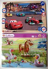 Lot de 2 Puzzles encastrement à boutons - Eichhorn - La ferme/Cars - 8/9 pièces