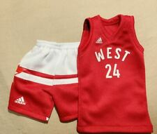Custom 1/6 Kobe Bryant All star 2016 Los Angeles 24 jersey fit Enterbay figures