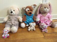 Build  A Bear BABW Lot Plush Bears Bunny Dog, Safari Clothing & Miniature Bears