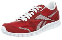 Reebok Men's Realflex Optimal Running Trainers Red White UK 10.5