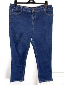 Ladies Stretch Straight Leg Jeans By George, Size 18. Worn twice