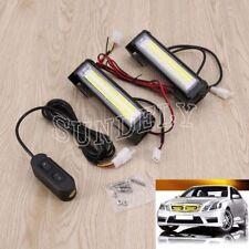 36W COB LED Car Emergency Hazard Warning Lamp Flashing Strobe Light Bar White