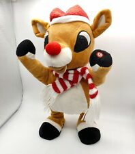 "2007 Gemmy Rudolph the Red Nosed Reindeer Dancing Singing 12"" Side Stepper"