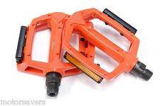 ORANGE WELLGO metallo BMX/Pedali ATB/Fixie - 9/16 (3 pezzo manovella)