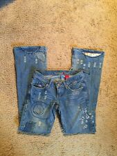 Vanilla Star Distressed Embellished Boot Cut Jeans...Size 1...Cute❤️