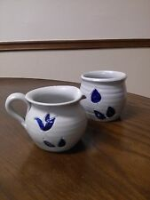 Williamsburg Virginia Pottery Stoneware Creamer And Open Sugarbowl