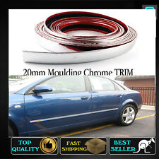 20mm Chrome Moulding Strip Trim Car Body Surrounds Window Bumpers Protector 6M
