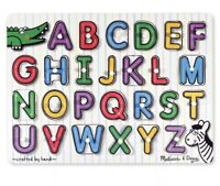 NEW IN SEALED PACKAGING Melissa & Doug - Lift & See peg puzzle Alphabet