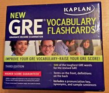 Kaplan GRE Vocabulary Flashcards Test Prep Cards 500+ Word Definitions 3rd ED