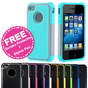 Shockproof Heavy Duty Tough Gel Shock Case Cover for Apple iPhone SE 5S 5 4S 4