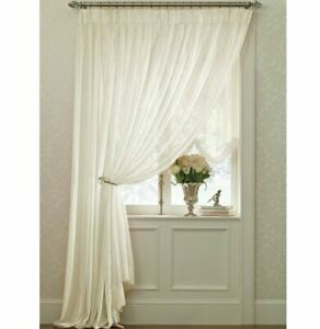 """JC Penney Extra Wide Pinch Pleat Luxury Drapes Curtains Pair White Solid 80"""" htf"""