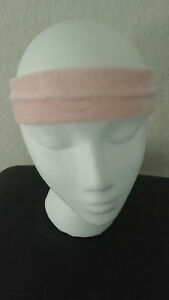 SCUNCI Headwrap Headband Wrap Hair Accessory Stretch Velvety Soft PINK NEW