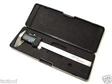 """6"""" Stainless Steel Digital Vernier Caliper Gauge LCD Display Metric / SAE NEW"""