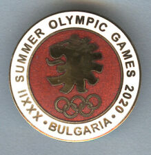 Rare Official Bulgaria Olympic Committee NOC pin badge Tokyo 2020
