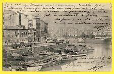 cpa Espagne Spain BILBAO Escrito en 1906 MUELLE de RIPA Puerto barcos trenes de