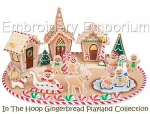 GINGERBREAD PLAYLAND COLLECTION - MACHINE EMBROIDERY DESIGNS ON CD OR USB