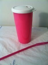 Tupperware Insulated Tumbler Pink DripLess Seal Lid Plus Straw