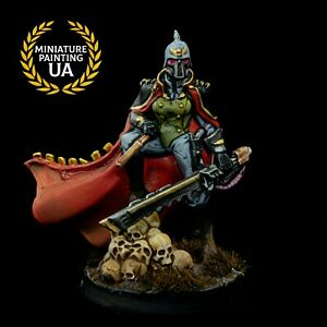 ⭐️HammerWar40K Raging Heroes Imperial Guard Painted Female Death Korps of Krieg