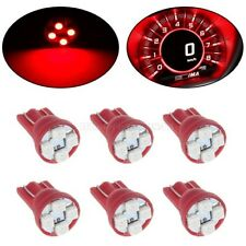 6Pcs Red T10 Instrument Panel LED Light Bulbs Dashboard Cluster 194 168 2825
