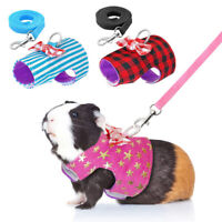 Pet Small Animal Harness Leash Guinea Pig Ferret Hamster Squirrel Clothes XS-M