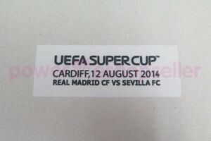 Real Madrid SuperCup 2014 Match detail Badge/Patch