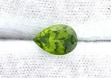 3.61 Carat 12x8 12mm x 8mm Pear Teardrop Apple Green Peridot Gem Stone Genstone