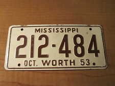 1953 MISSISSIPPI Wheaties Cereal Miniature Pedal Car Bike Bicycle License Plate