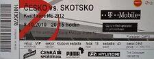 VIP ticket 8.10.2010 Czech Republic-Scotland Escocia