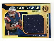 SONY MICHEL NFL 2020 GOLD STANDARD GOLD GEAR MATERIAL (NEW ENGLAND PATRIOTS)