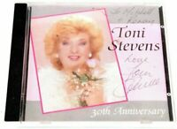 Signed Autographed Toni Stevens CD 30th Anniversary Music Album RARE Vintage