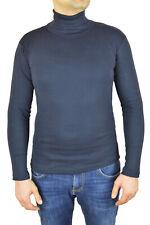Herren Rollkragenpullover Longsleeve Pullover Sweatshirt Pulli Größe S Marine
