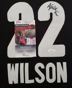 A'Ja Wilson Signed Custom Las Vegas Aces Jersey Size L In Person JSA CERTIFIED