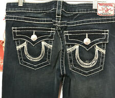 "True Religion Joey Rainbow Boot Cut Jeans New Women Size 32 Distressed 36"" waist"