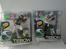 Lot 2 Tim Tebow McFarlane Action Figures Green Jersey and White Jersey Ser 30 31