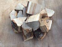 Large BBQ smoker wood chunks 10kg kiln dried oak