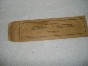 Lionel 3376-118 Original Parts Envelope for Operating Giraffe Car. Empty.
