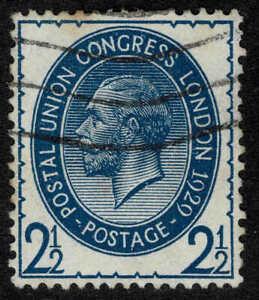 UK 1929 KGV 2 1/2d Blue - Universal Postal Union - WM Block Cyphers - Fine Used